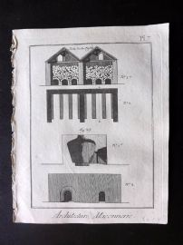 Diderot 1780's Antique Print. Architecture, Maconnerie 07 Masonry